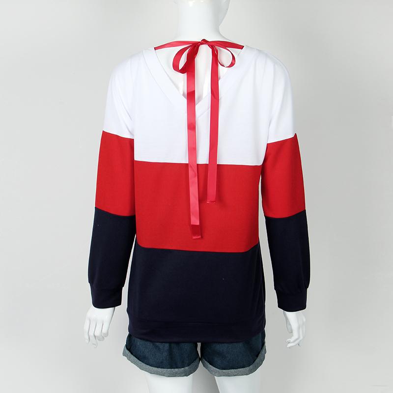 Sweatshirt, Women's Sweatshirt Patchwork Pullover 18