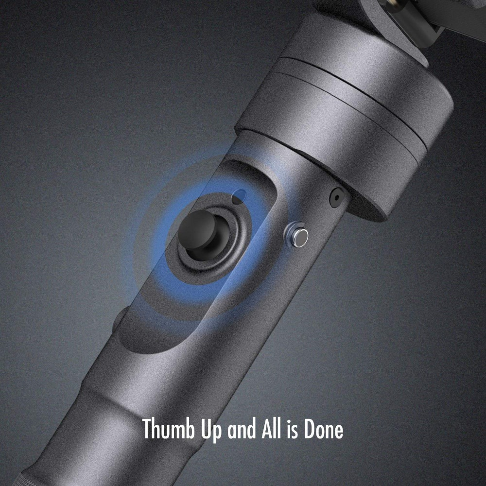 Zhiyun Evolution 3-Axis Handheld Gimbal Stabilizer for GoPro Hero 6 5 4 3 XiaoMi Yi SJ4000 SJ5000 Sport Cameras,CNC Aluminum3