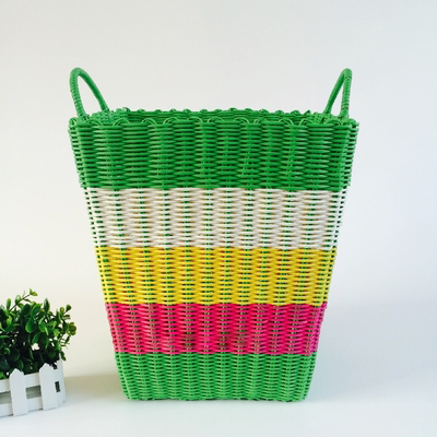 Dirty Clothes Basket Plastic Pipe Woven 4HQD (8)