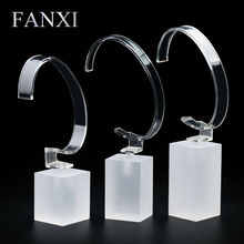 FANXI Free shipping Custom Matte acrylic bracelet display stand for jewellery shop show matte acrylic watch exhibitor organizer