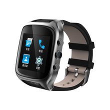 high quality italy leather strap smart watches wristwatch with 600mah battery gps heart rate speaker google map app download(China)