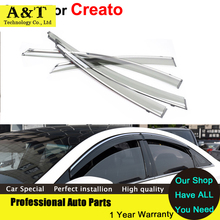 JGRT car styling Awnings Shelters Window Visor For KIA K3 Creato 2013 2014 Stickers Car-Styling Accessories Guard Rain Shield Ca
