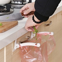 Hanging Kitchen Cupboard Cabinet Door Tailgate Stand Storage Garbage Bags Hooks Rack Home Kitchen Dining(China)