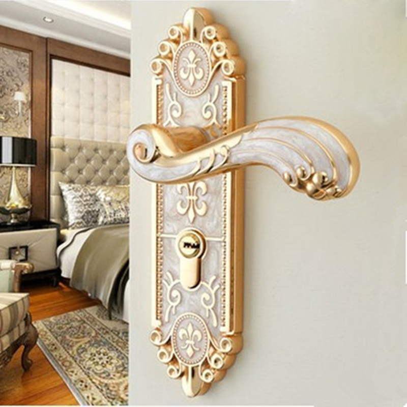 OSPON indoor home solid wood door locks bedroom door mute European-style locks can be wholesale<br>