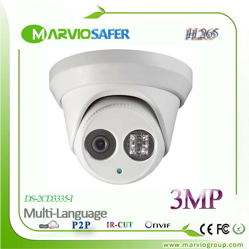 Marvio H.265 3MP Full HD Network POE IP Camera DS-2CD3335-I Outdoor CCTV Video Security Camera IPCAM Cam Onvif, NAS(China (Mainland))