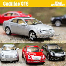 1:32 Scale Diecast Metal Alloy Luxury Car Model For Cadillac CTS Collectible Model Collection Sound&Light Pull Back Toys Car(China)