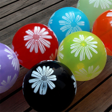 10pcs Beautiful Printing Flower Latex Inflatable Balloon for Holidays Classic Magic Toy Inflatable Balls Wedding Party Decor