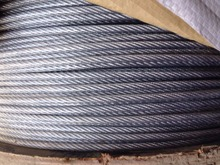 2MM--4MM, 6X7+FC electric Galvanized steel wire rope grape shed cable fruit vegetable shed rope