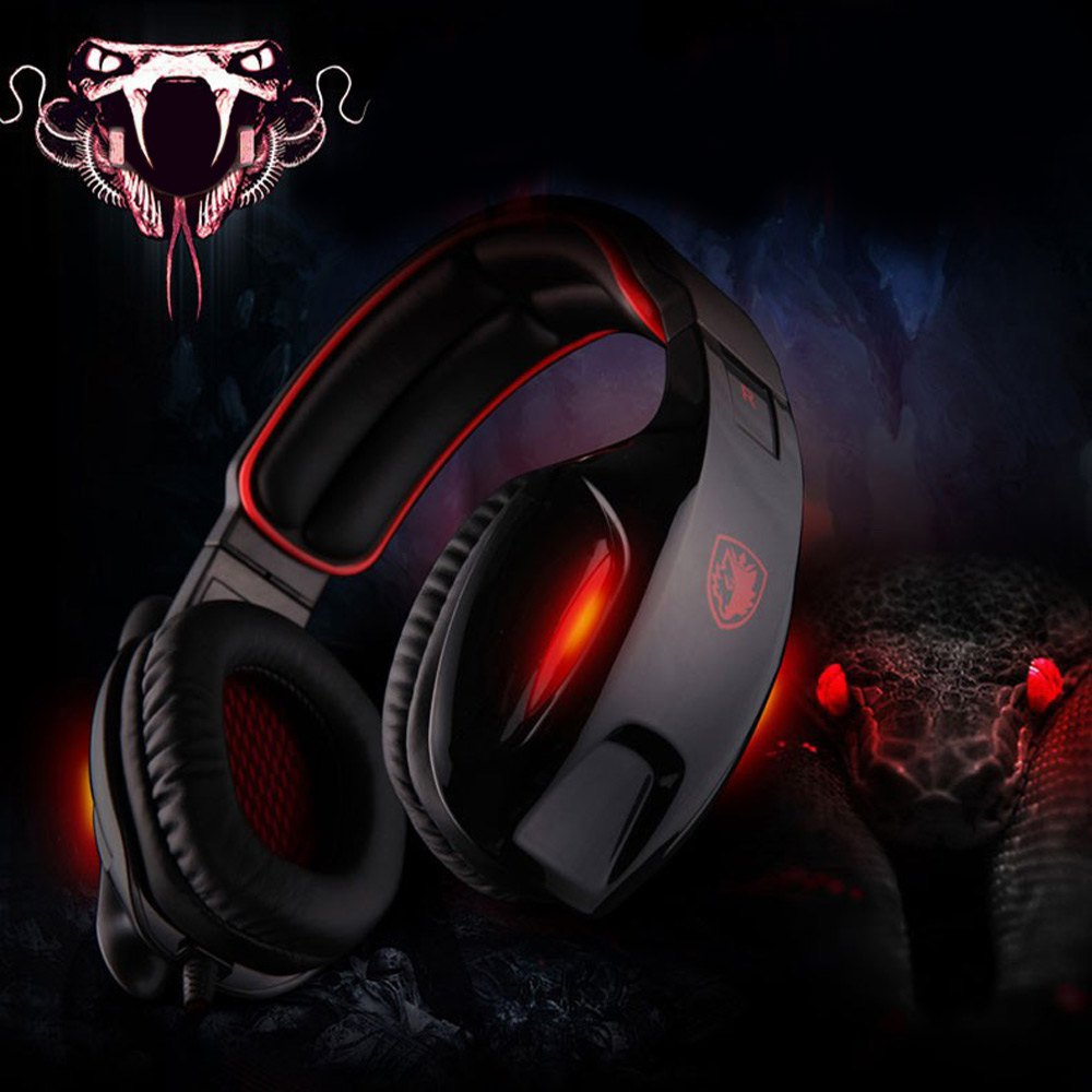 Foldable Design Professional Gaming Headphone Sades SA-902 7.1 Sound Channel USB Headset with Mic Voice Control for Computer<br>