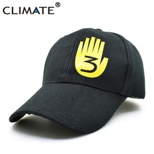 CLIMATE Gravity Falls Dipper Journal Number 3 Book Cool Black Baseball Caps Youth Boys Number 3 Cool Summer Black Sport Hat Caps(China)