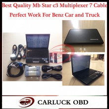 2016 Best Quality Mb C3 Star Diagnosis Multiplexer Merceders Ben-z With LAPTOP Lenovo G460 I3 CPU Get R232 to USB Cable as Gift