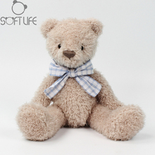 Kawaii Tie Teddy Bear Plush Doll Toys Stuffed Animals Sleep Bear Teddy Bear Soft Toy Sit Hight 25CM For Kids Birthday/Xmas Gifts