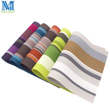 2pcs/Lot Europe Style PVC Dining Table Mat Kitchen Accessories Stripe Rectangle Placemats For Table 30*45cm(China)