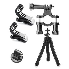 Head Chest 3-way Adjustment Base Auto Suction Cup Mount Monopod Wrist Sport Camera Accessories Kits For GoPro Hero 3 4 5 Camera