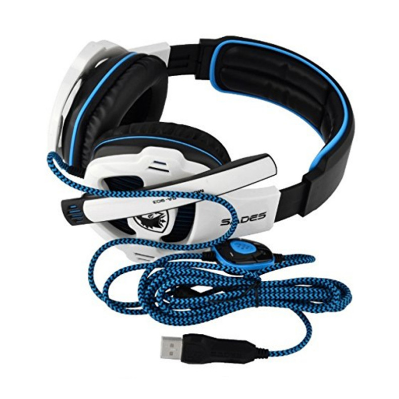 Sades SA-903 Gaming Headset Best casque 7.1 Surround Sound USB Wired Headphones with Microphone Volume Control for PC Gamer (8)