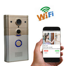 Freeship 720P WIFI Wireless Video Doorphone Camera Wide Angle Motion Detection Alarm WIFI Doorbell for IOS Android Phone/Tablet