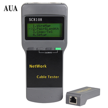 Free Shipping Portable Multifunction Wireless Network Tester Sc8108 LCD Digital PC Data Network CAT5 RJ45 LAN Phone Cable Tester(China)