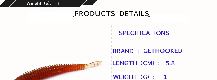 Soft Fishing Lures Split Tail Sandworms 5.8cm 1g 10pcs Swimbait Soft Bait Shad Carp Fly Fishing Tackle (4)