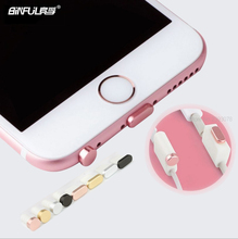 BINFUL Metal Aluminum + import PC 2 Pairs Dust Plug Sets For iPhone 6 6s Plus Case Headphone 3.5mm Earphone Charging Jack