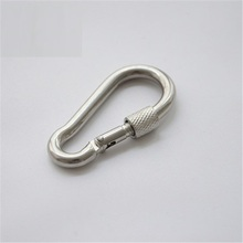 M10--M13 galvanized snap hook with screw connecting link button safety hook mountaineering buckle chain connector hasp lifting(China)