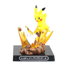 PVC Pokemen Collection Action Figure Anime Pikachu Model Doll Toys GK Electric Shock Pikachu Hot Home Decorations Gifts YHS-0006