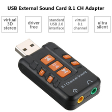 Buy External USB 2.0 Virtual 8.1 Channel CH 3D Audio Sound Card Adapter Converter Headset Microphone 3.5mm Jack MacOS Win 7/8/XP for $2.99 in AliExpress store