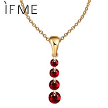IF ME 8 Colors Charming Women Silver Color Statement Necklace Gold Color Crystal Beads Pendants Chain Long Necklace Women Collar