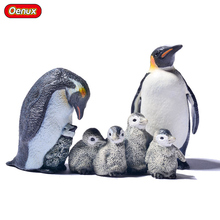 Oenux Chinstrap Penguins Animals Static Model Toy Not-flying Birds Female Baby Penguin Action Figures Toy For Kids Birthday Gift