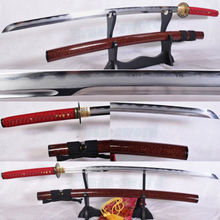 TOP QUALITY FOLDED STEEL CLAY TEMPERED JAPANESE SWORD KATANA UNOKUBI-ZUKURI BLAD(China)