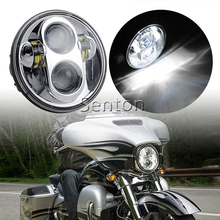 "Headlight For Harley Davidson 883 5-3/4"" 5.75 Inch Motorcycle Projector Hi / Low HID LED Front Driving Headlamp Head Light"