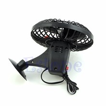 1PC Plastic 12V Powered Mini Truck Car Vehicle Cooling Air Fan Adsorption Summer Gift Black(China)
