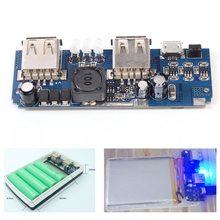 5V 2A 1A Power Bank Charger PCB Board Step Up Power Module Double USB Boost Converter Lithium Battery DIY Charging LED Indicator