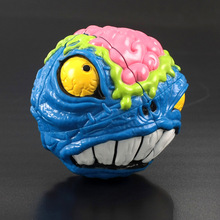 MAD HEDZ Crazy Brain 68mm 2x2x2 Magic Cube Puzzle Head Cartoon Red Yellow Blue Black Light Blue Orange Choice Halloween Gifts(China)