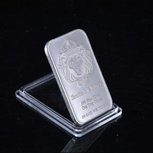 Non Magnetic Scottsale .999 Fine Bullion With serial number One Troy Ounce Silver Plated Bar(China)