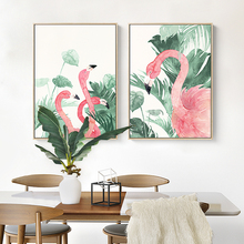 Nordic Poster Flamingo print canvas painting Decoration Painting Home Decor On Canvas Modern Wall Prints art work no frame(China)