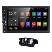 "Quad Core 7"" Car-Styling Android 6.0 Double 2 Din Car Multimedia Player with GPS RDS Steering Wheel DAB+ Free Car Camera BT DVBT"