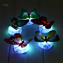 1pcs Colorful Butterfly Night Light Baby Kids Room Wall Lights Party Decor LED Night Indoor Lighting Decorations(China)