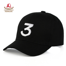 Popular Singer Chance The Rapper Chance 3 Cap Black Letter Embroidery Baseball Cap Hip Hop Hip-hop Snapback Gorras Casquette 122