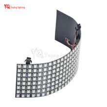 8*32 16*16 8*8 Pixels WS2812B digital flexible LED programmed Panel Screen individually addressable full color DC5V(China)