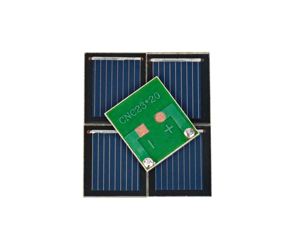 Aoshike Pcs Solar Panel China Painel Solar Polycrystalline Silicon Solar Cell DIY Technology Mini Material 0.5V 80MA 5