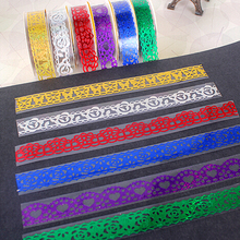 1 piece 1.7 m Hollow out transparent Lace Tape Decoration Roll Self Adhesive Tape Scrapbook Washi Tape 7 Colors(China)