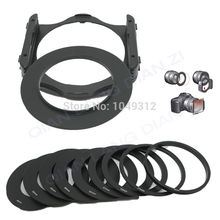 lower price 49 52 55 58 62 67 72 77 82mm Ring 9 Ring Adapter+Filter Holder set for Cokin P free shipping&tracking number(China)