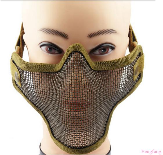 The new tactical mask wire mesh half face protection mask 3 color Can adjust the shape of face mask Free shipping<br><br>Aliexpress