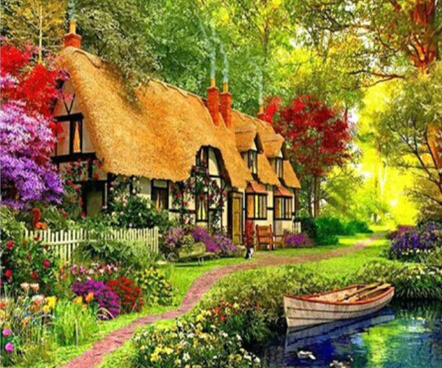 2017 Best Ing 5d Diy Diamond Paintings Cross Sch Landscapes Mosaics Home