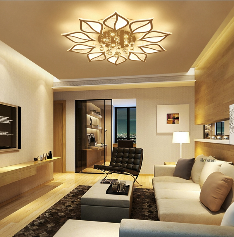 Modern Luxury Crystal LED Ceiling Chandelier Lights With Remote Control Living Room Bedroom Light Acrylic Ceiling Lamp Home Lighting 220V (18)