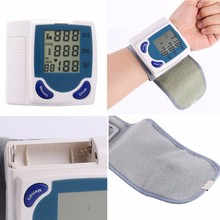 Health Care Home Automatic Wrist digital lcd blood pressure monitor portable Tonometer Meter for Measuring Pulse Rate Health