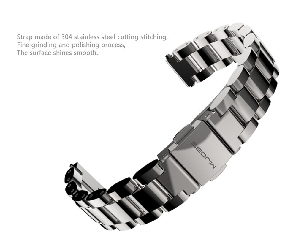 Original Stainless Steel Metal Plus Fitbit Free tool Xiaomi miband 2 Smart Bracelet Replacement Fitness Tracker mi Accessories 8