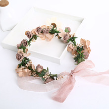 Wedding Romantic Bohemian Fabric Flower Handmade Hairband Bride High Quality Bridal Vintage Hair Accessories Z0966