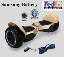 2017 Electric Scooter With Samsung BT+Bluetooth +Speaker+Remote Control Self Balance Scooters Electric Skateboard Hover Board