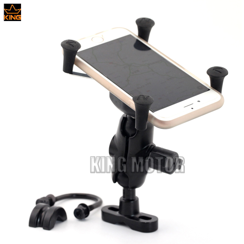 For SUZUKI DL 650/1000 V-Strom SV650/S SFV 650 Gladius GSX1300R B-KING GPS Navigation Frame Mobile Phone Mount Bracket<br>